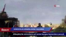 Alibeyköy'de sürücülerin yol verme kavgası kameralara yansıdı