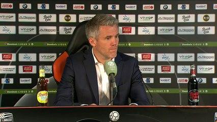 La réaction de Mickaël Landreau après FC Lorient - AJ Auxerre (2-2) 18-19