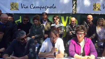 Via Campagnola en conférence de presse de soutien à Petru Alessandri devant Assemblée de Corse