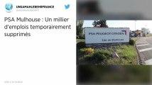 Le groupe PSA va supprimer un millier d'emplois au sein de son usine de Mulhouse