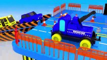 Monster Street Vehicles Trucks with Color Water Sliders to Learning Colors for Children 3D Vehicles