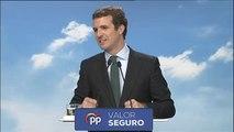 """Casado califica de """"extrema derecha"""" a VOX y asegura que el único partido de """"centro derecha"""" es el PP"""