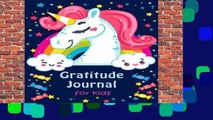[MOST WISHED]  Gratitude Journal for Kids: Girl Unicorn 90 Days Daily Writing Today I am grateful