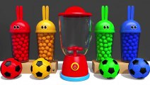 Learn Colors with Bunny Mold and Microwave Blender Toy Finger Family Song for Kids Children