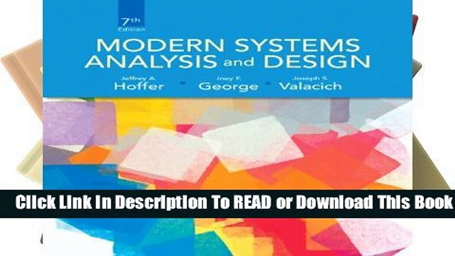 Full E Book Modern Systems Analysis And Design For Online Video Dailymotion