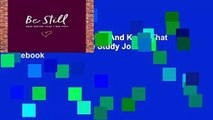"""[MOST WISHED]  Be Still: And Know That I Am God: 8""""x10"""" Bible Study Journal / Notebook"""