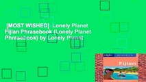 [MOST WISHED]  Lonely Planet Fijian Phrasebook (Lonely Planet Phrasebook) by Lonely Planet