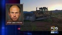 Police pursuit involving stolen bulldozer