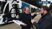 Un tram de la STIB signé Pierre Kroll