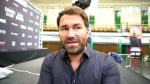 'HES BEEN ON ME NON STOP' - EDDIE HEARN ON HOW SERIOUS DAVID HAYE'S OFFER IS FOR CHISORA TO FACE AJ