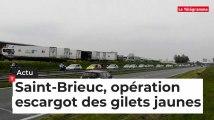 Saint-Brieuc, opération escargot des gilets jaunes