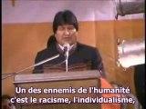 Evo Morales - Ouverture Forum humaniste Latino