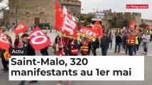 Saint-Malo, 320 manifestants pour le 1er mai