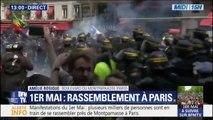 1er-mai à Paris: première charge des forces de l'ordre en riposte à des provocations