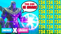 10 minutes 6 seconds of Thanos x Avengers Endgame | Fortnite Battle Royale