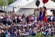 Festival du cirque d'Obernai Pisteurs d'Etoiles 2019, journée du 1er mai dans la rue.