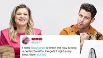 Nick Jonas and Kelly Clarkson Answer Singing Questions from Twitter