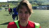 Coupe LAuRA Foot Féminine – Yolène CHUZEVILLE réagit après l'élimination du FC PONTCHARRA SAINT-LOUP contre l'AS SAINT-ETIENNE B