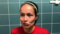 Coupe LAuRA Foot Féminine – Caroline MICHON-PERROT réagit après l'élimination du FC PONTCHARRA SAINT-LOUP contre l'AS SAINT-ETIENNE B