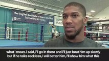 (Subtitled) 'I'll batter him' - Joshua to Ruiz after hearing robot claims
