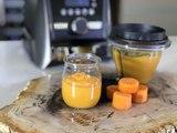 Papilla de zanahoria y manzana con jengibre