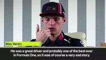 (Subtitled) Verstappen wishes Senna was still around on 25th anniversary of his death