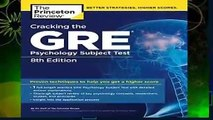 Cracking The Gre Psychology Subject Test, 8th Edition (Princeton Review: Cracking the GRE