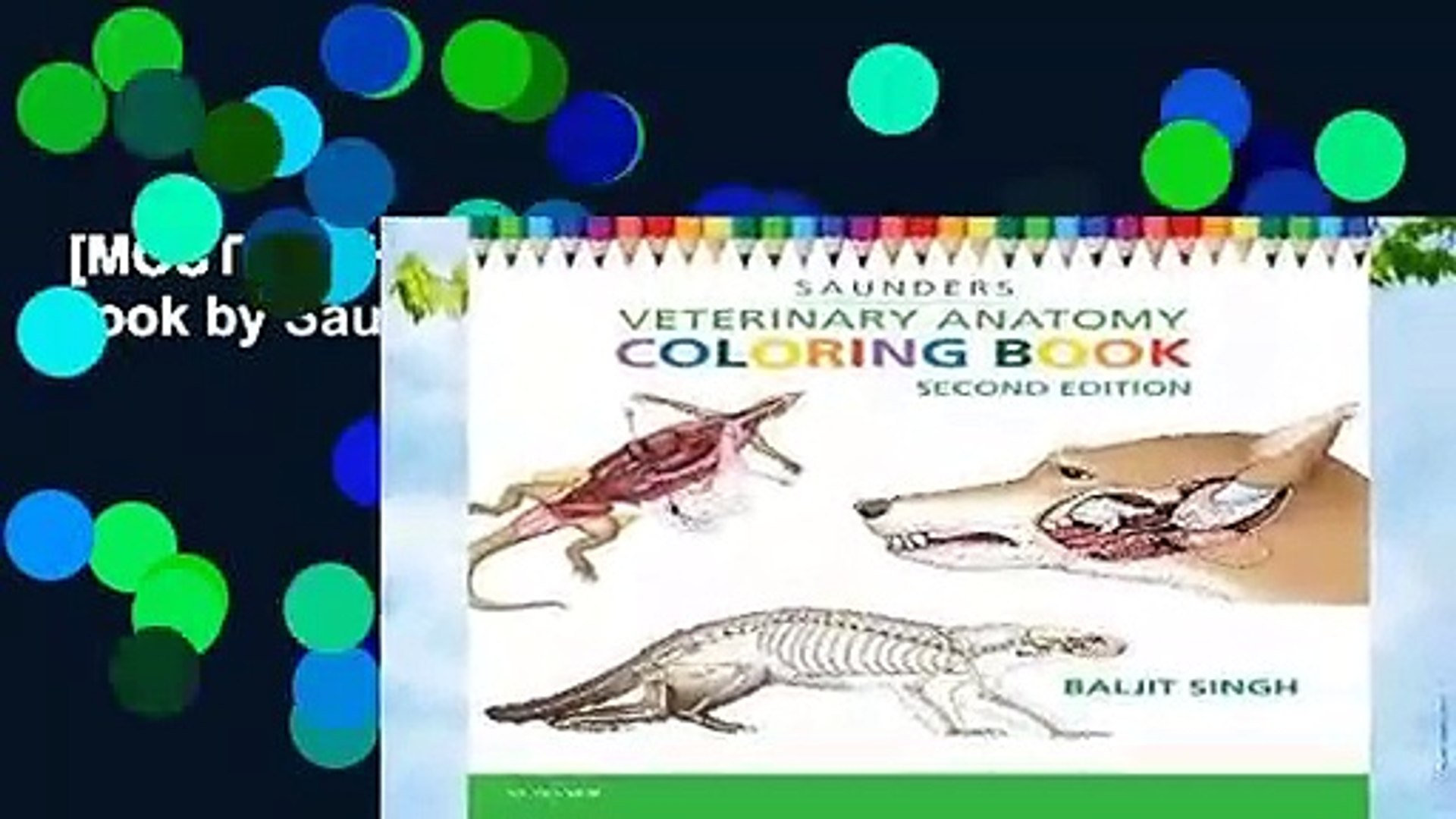 [MOST WISHED] Veterinary Anatomy Coloring Book by Saunders