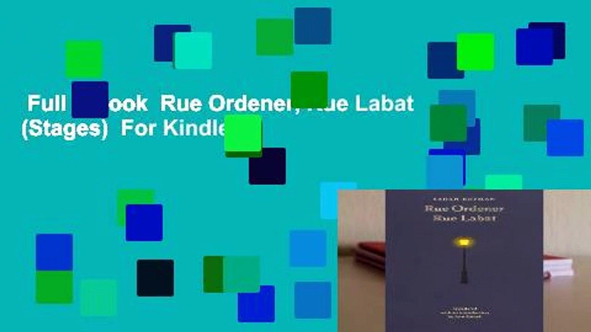 Full E Book Rue Ordener Rue Labat Stages For Kindle