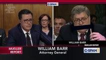 Stephen Colbert's Hilarious Spoof Cross-Examination Of William Barr