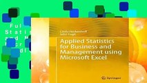 Full E-book  Applied Statistics for Business and Management using Microsoft Excel  For Kindle