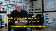 "Bernard Pivot lit ""Théodote"" du poète grec Constantin Cavafis"