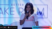 Michelle Obama Fire's Up Thousands Of High School Students on College Signing Day