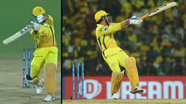 IPL 2019 : MS Dhoni's One Handed Six During Chennai Super Kings V Delhi Capitals Match || Oneindia