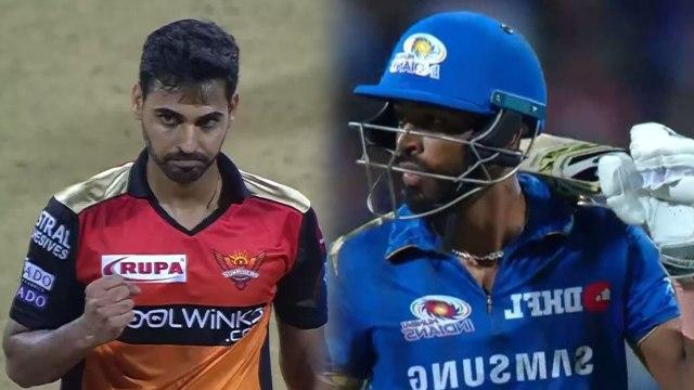 IPL 2019 MI vs SRH: Hardik Pandya departs for 18 runs, Bhuvneshwar Kumar Strikes | वनइंडिया हिंदी