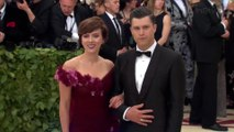 Right Now: Scarlett Johansson Colin Jost Met Gala 2018 Red Carpet