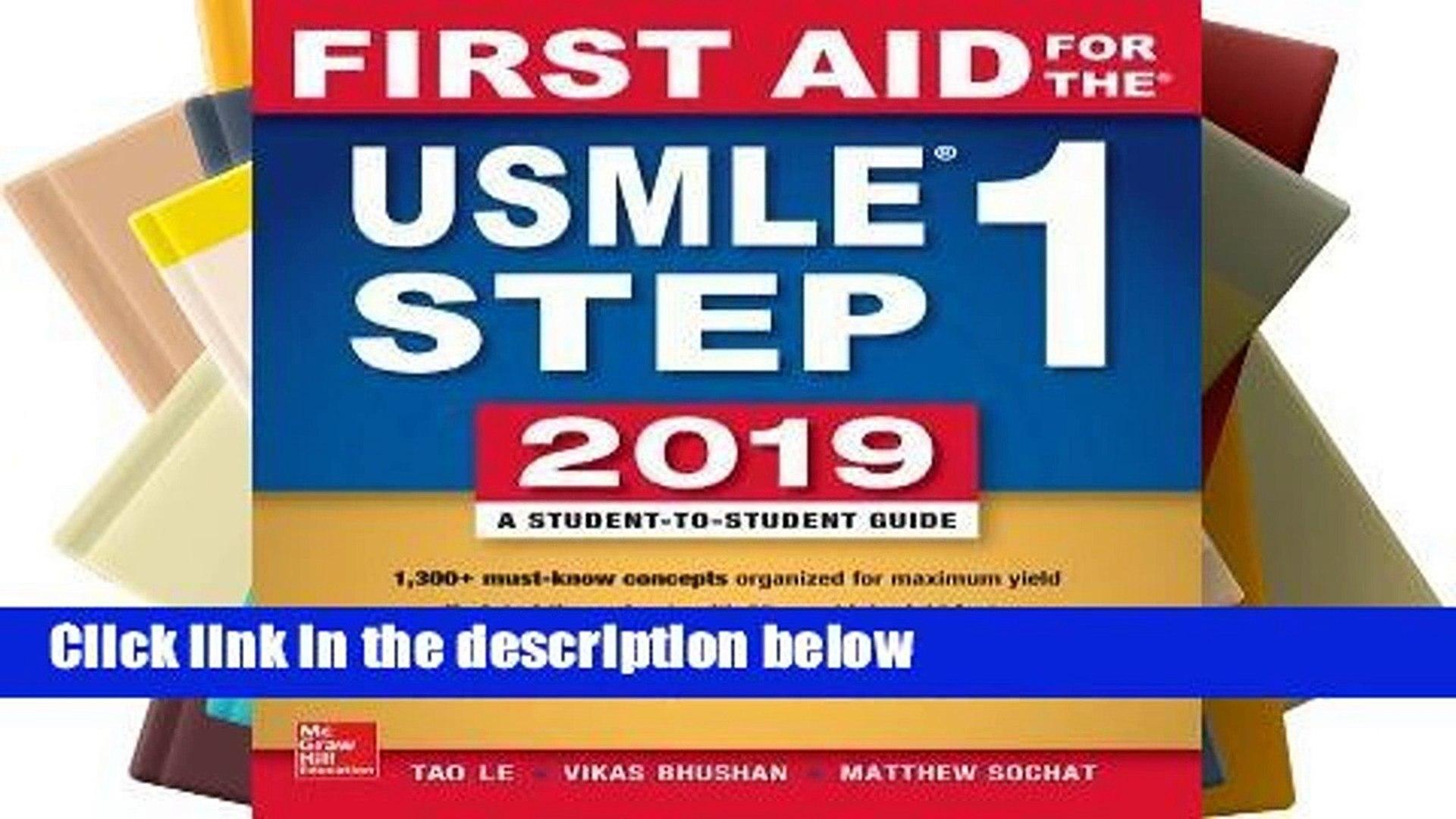 R E A D First Aid for the USMLE Step 1 2019, Twenty-Ninth Edition  D O W N L O A D