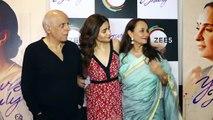 Alia Bhatt at Yours Truly Special Screening FULL VIDEO Mahesh Bhatt, Soni Razdan