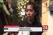 San Juan de Lurigancho: asesinan de balazos a joven para robarle su motocicleta