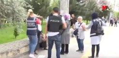 Kadın polisin tepki çeken görüntüleri