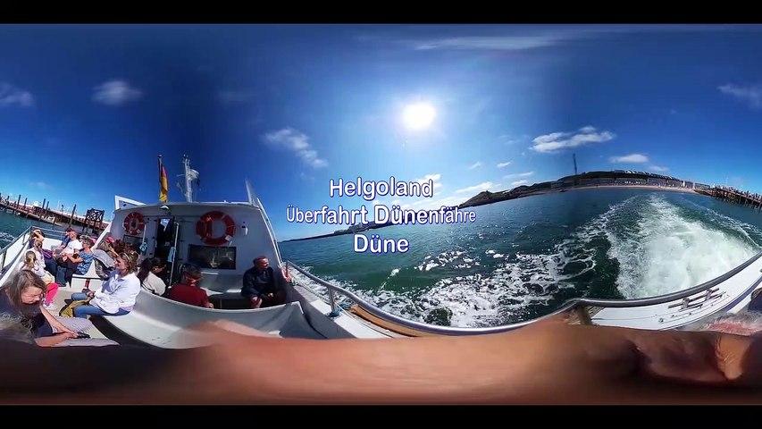 Helgoland Überfahrt Düne-360 Grad Video