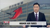Korean Air to increase fares on domestic routes from June