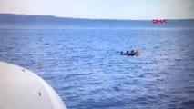 Balıkesir Ayvalık Kaçakları Taşıyan Tekne Battı Sahil Güvenlik Kurtarma