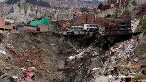 Landslide destroys homes in South America