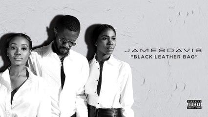 JAMESDAVIS - Black Leather Bag
