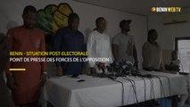 Bénin-Situation post électorale : point de presse des forces de l'opposition