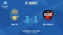 J32 Pau FC - SO Cholet (3-1), le résumé