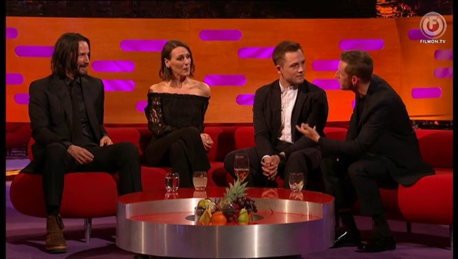The Graham Norton Show S25e05 Keanu Reeves Kylie Minogue Taron Egerton Jamie Bell Suranne Jones Michael Rice May 03 2019