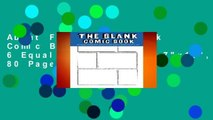 """About For Books  Blank Comic Books for Kids: 6 Equal Comics Panels,7""""x10"""", 80 Pages, Blank Comic"""