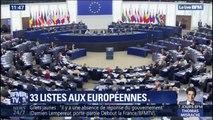 Quelles sont les figures des 33 listes pour les élections européennes?